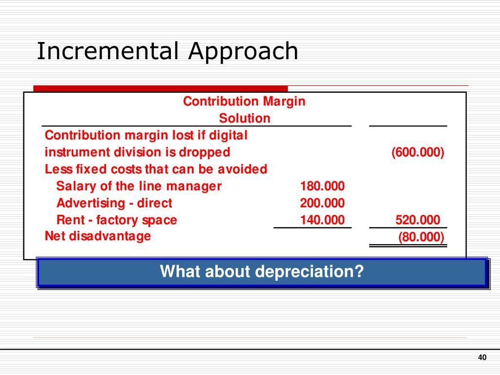 Incremental Approach