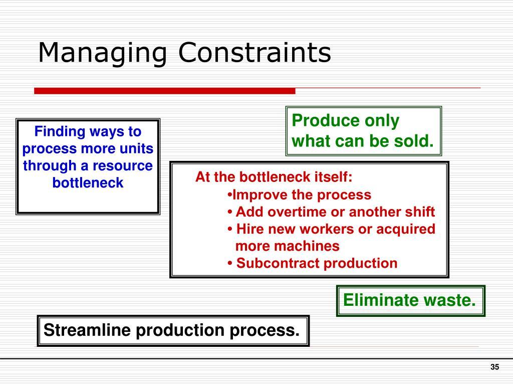 Managing Constraints
