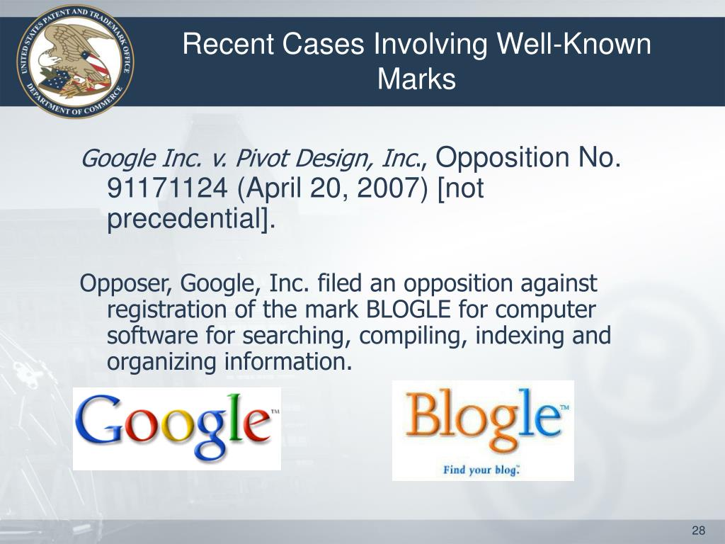 Recent Cases Involving Well-Known Marks