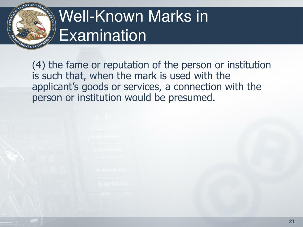 Well-Known Marks in Examination