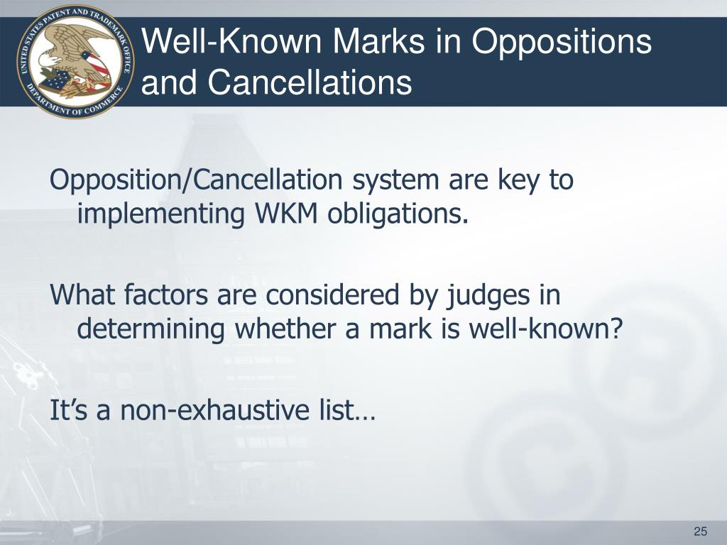 Well-Known Marks in Oppositions and Cancellations