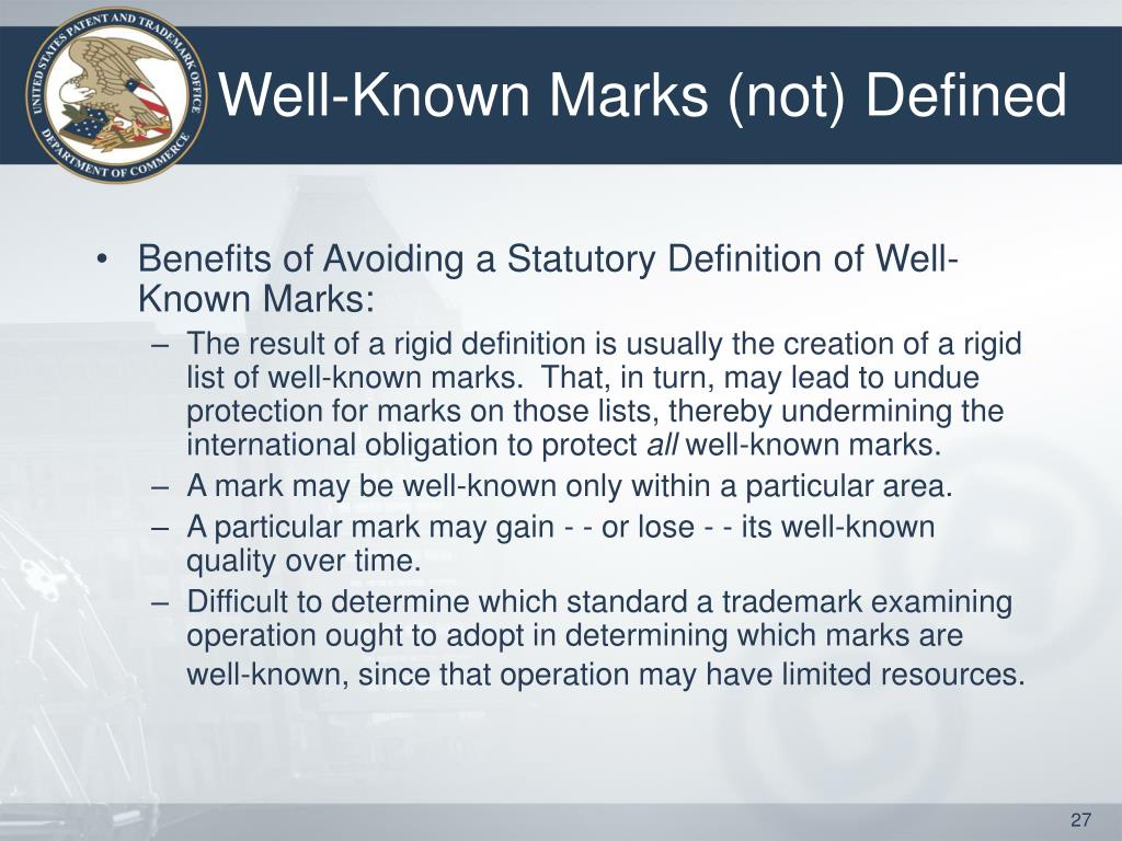 Well-Known Marks (not) Defined