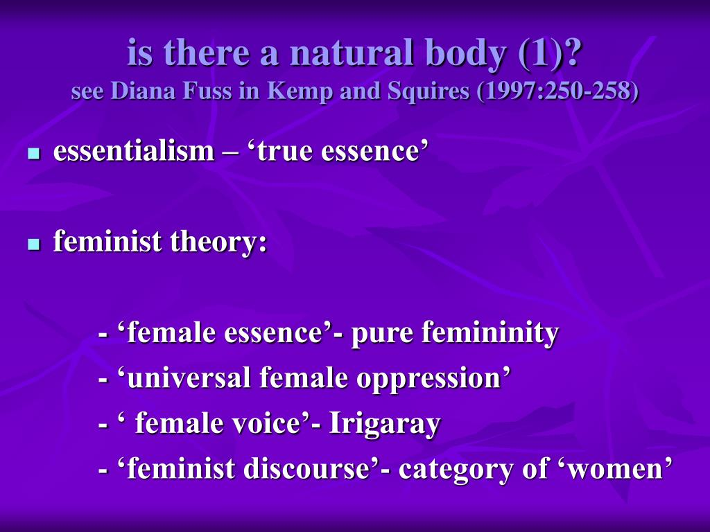 is there a natural body (1)?