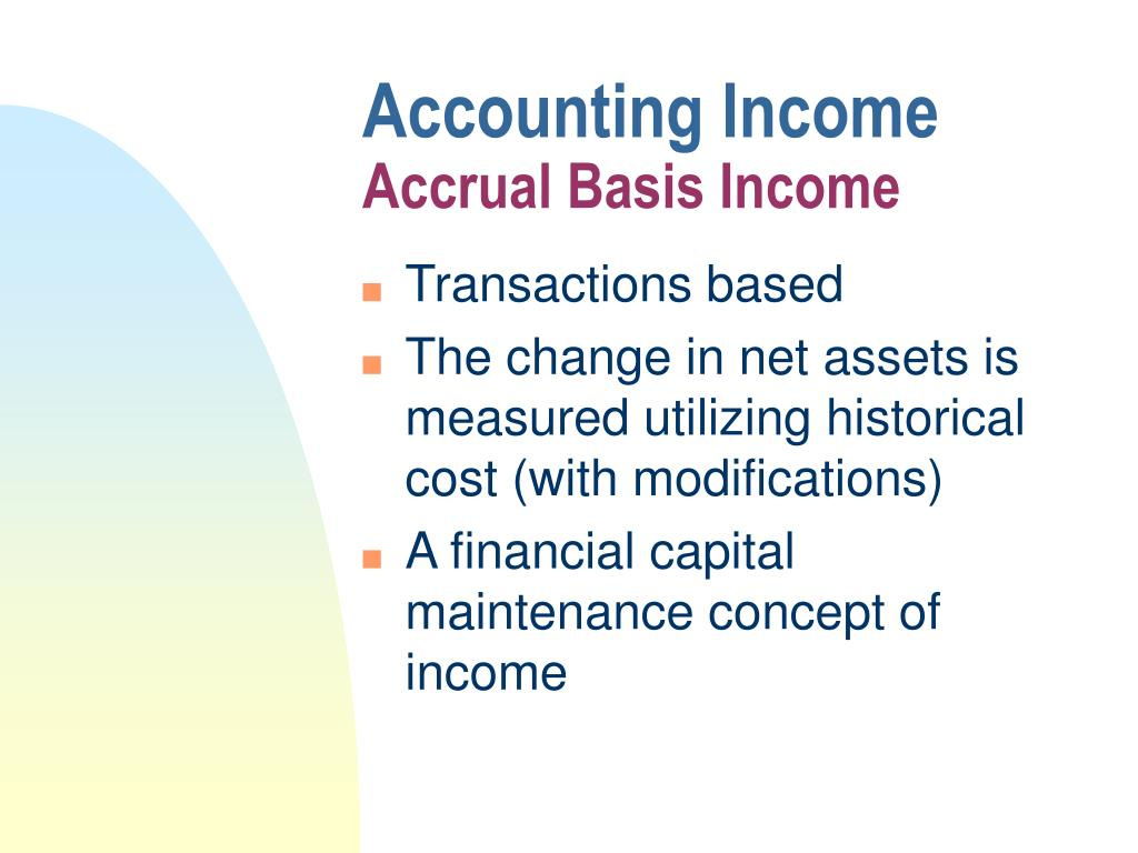 Accounting Income