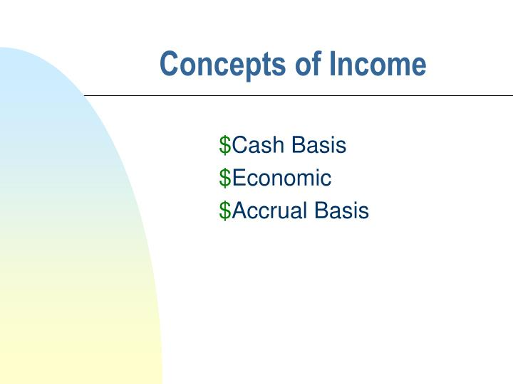 Concepts of income