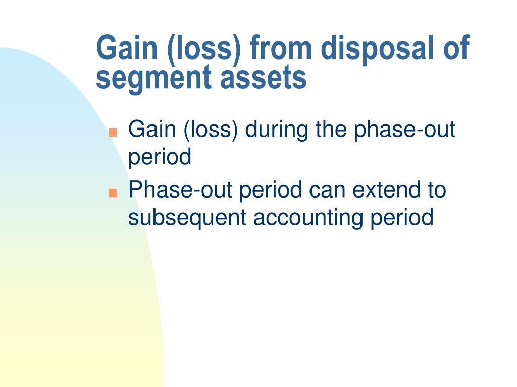 Gain (loss) from disposal of segment assets