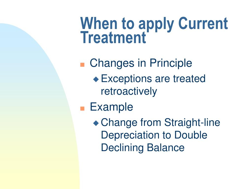 When to apply Current Treatment