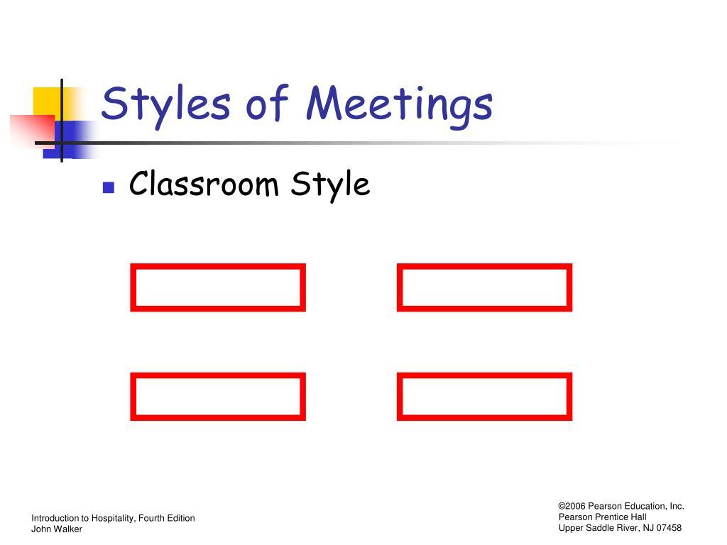 Styles of Meetings