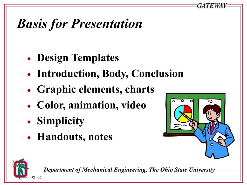 Basis for Presentation
