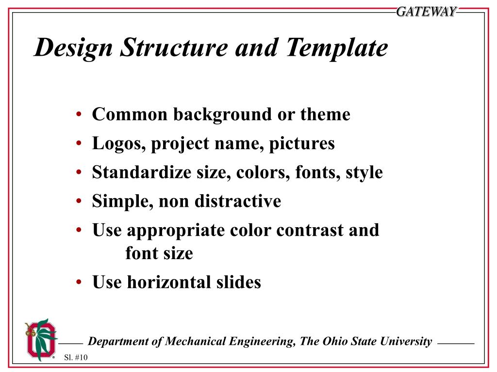 Design Structure and Template