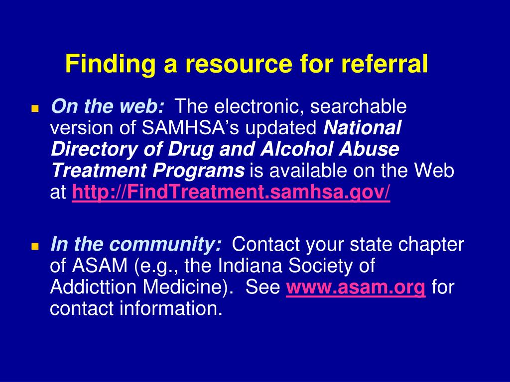 Finding a resource for referral