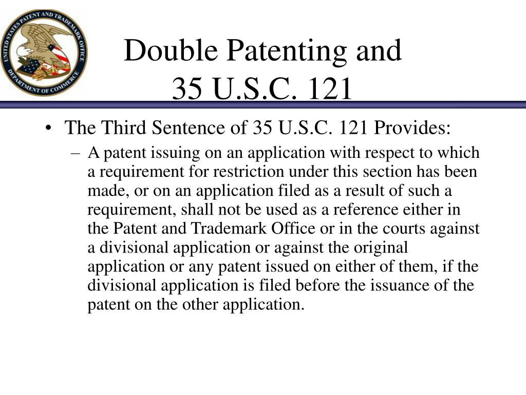 Double Patenting and