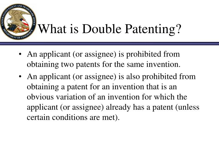 What is double patenting
