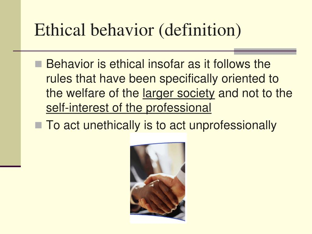 Ethical behavior (definition)