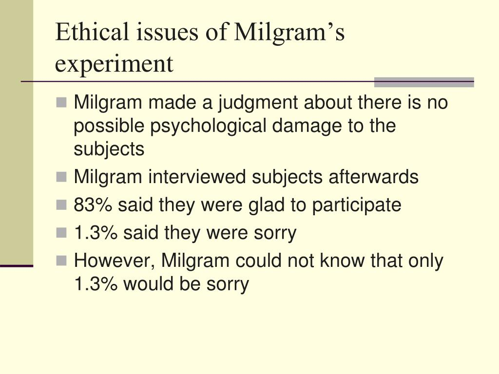 a personal review of the milgram obedience experiment The background on the stanley milgram theory essay  review of stanley milgram's experiments on obedience says that milgram entrapped (329) his subjects and .