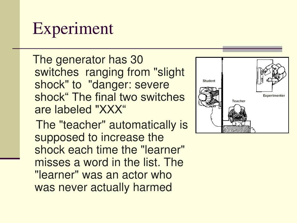 a personal review of the milgram obedience experiment Shaping perceptions of milgram's obedience to authority  related critiques of  the obedience experiments will be interwoven within the summary of.