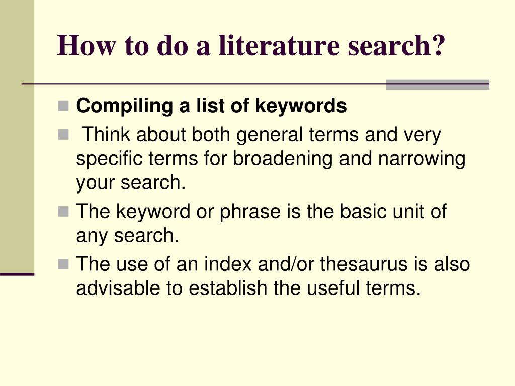 literature review how to do Literature reviews provide you with a handy guide to a particular topic if you have limited time  what should i do before writing the literature review.