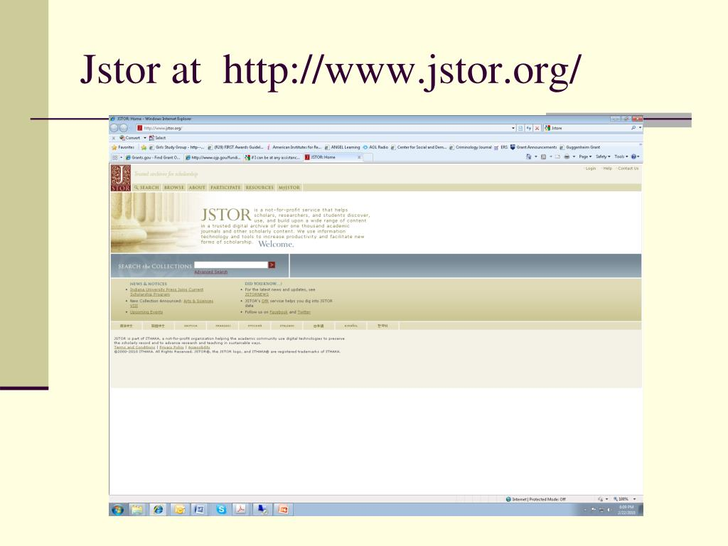 Jstor at  http://www.jstor.org/