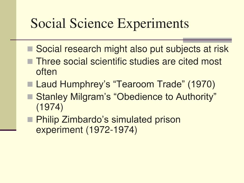 Social Science Experiments