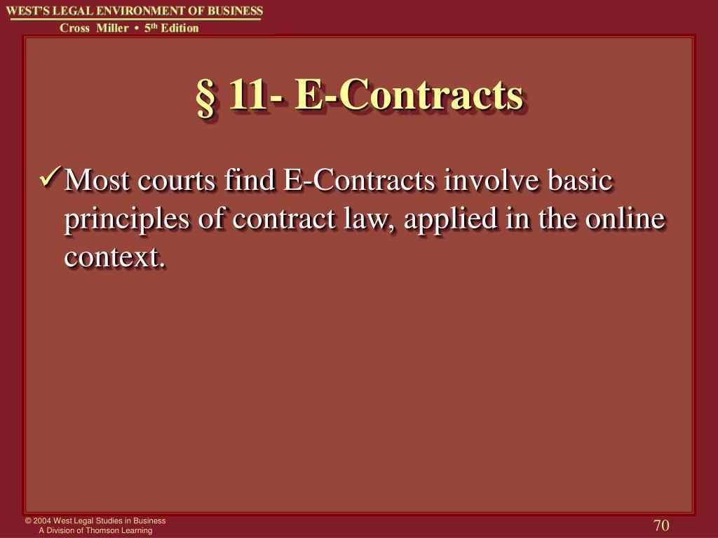 § 11- E-Contracts