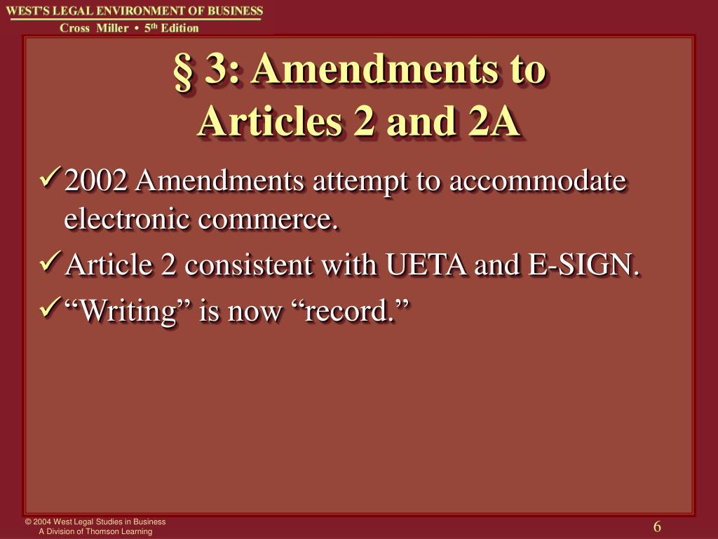 § 3: Amendments to