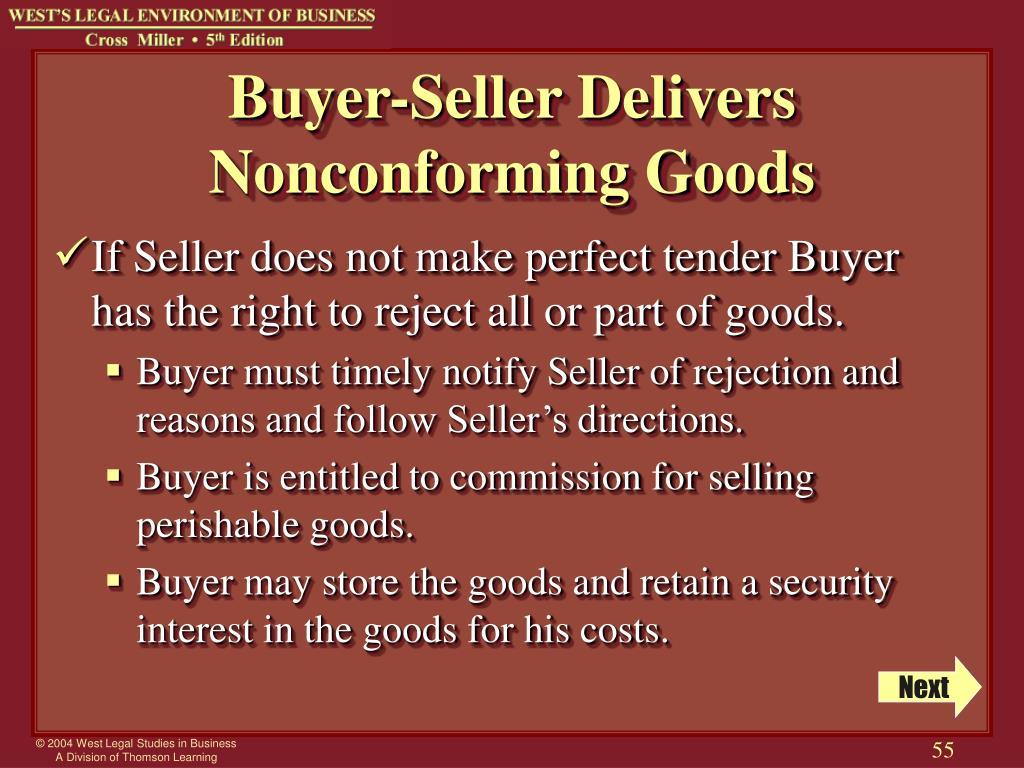 Buyer-Seller Delivers