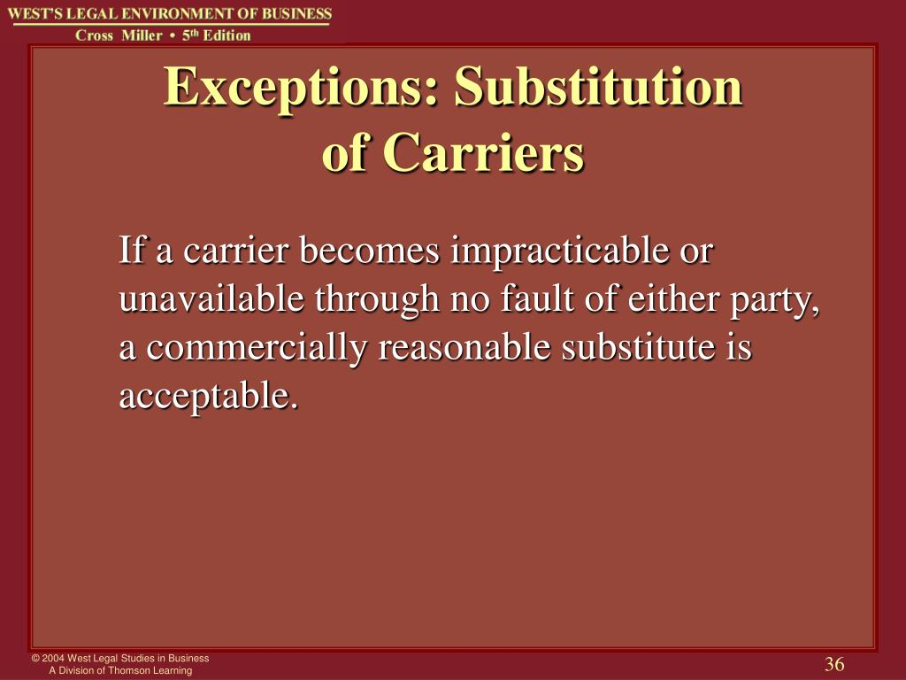 Exceptions: Substitution