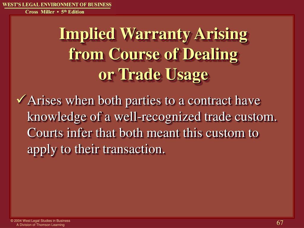 Implied Warranty Arising