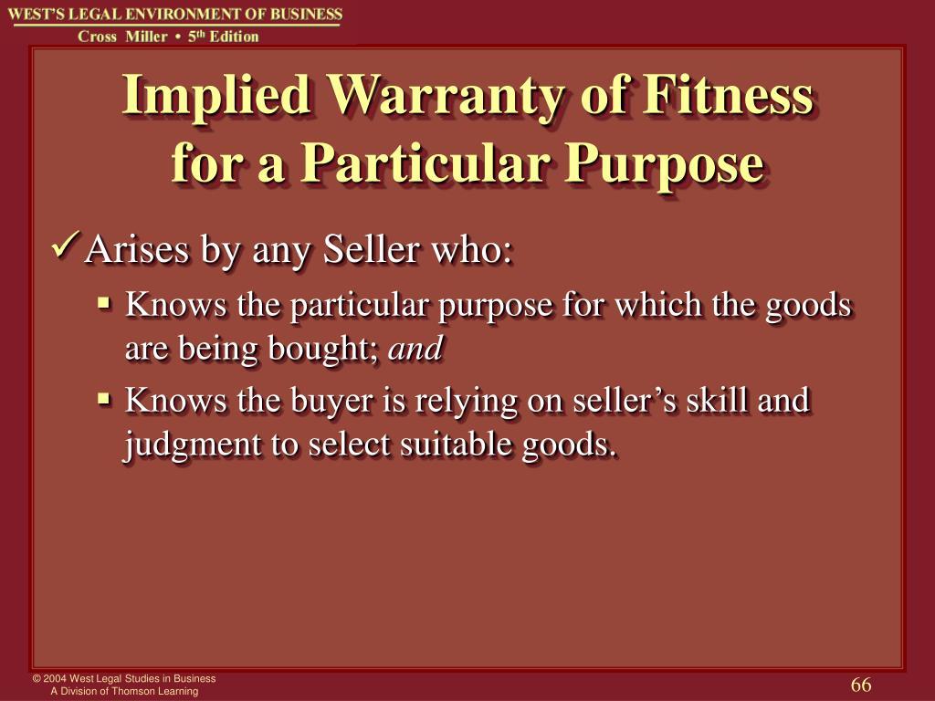Implied Warranty of Fitness