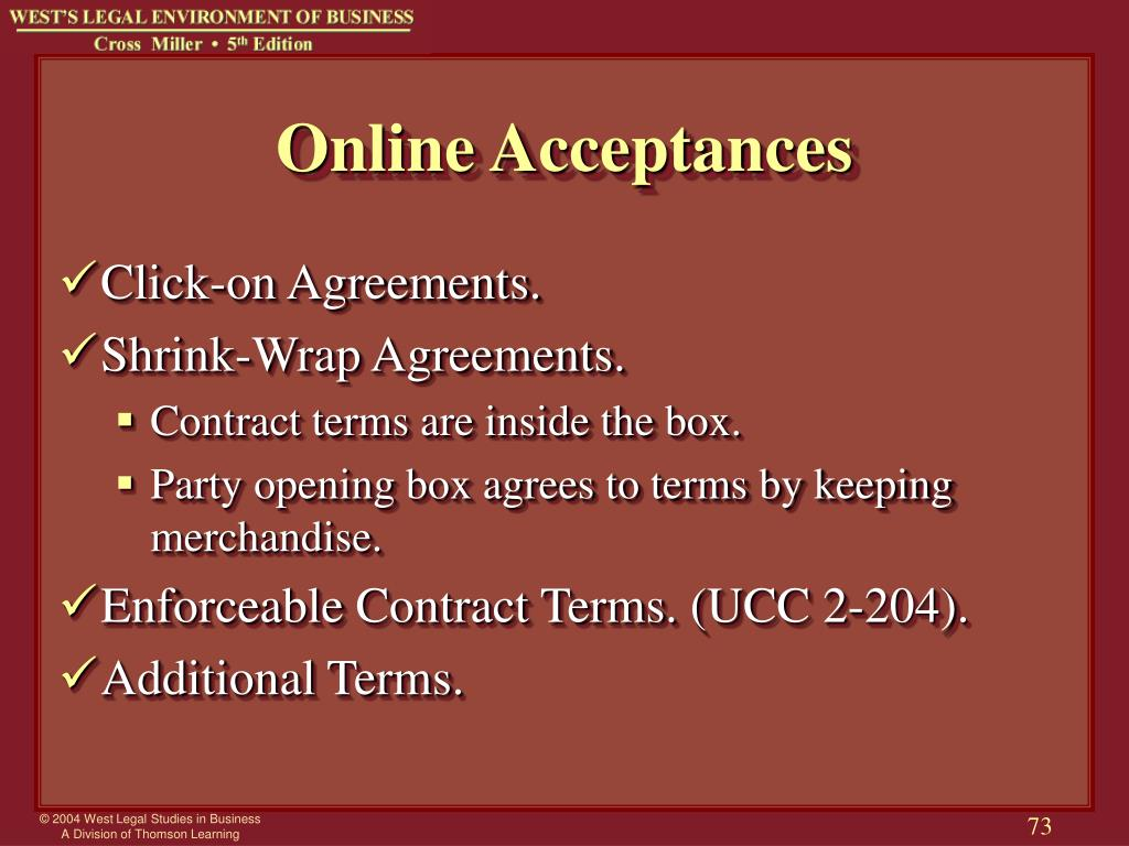 Online Acceptances