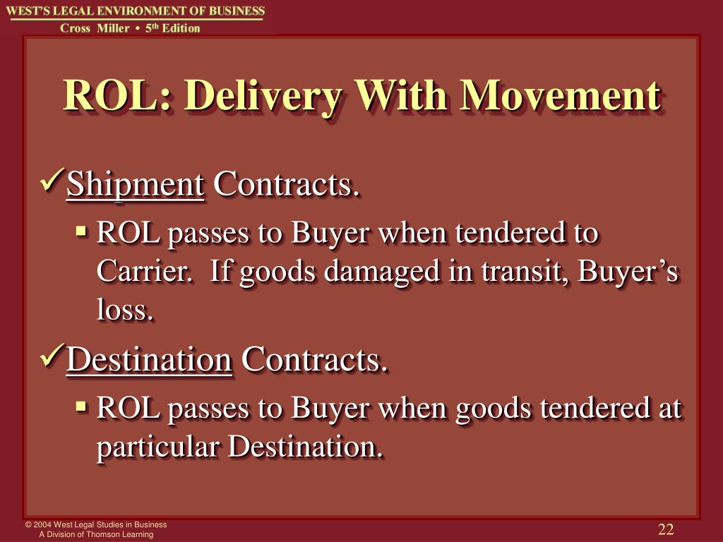 ROL: Delivery With Movement