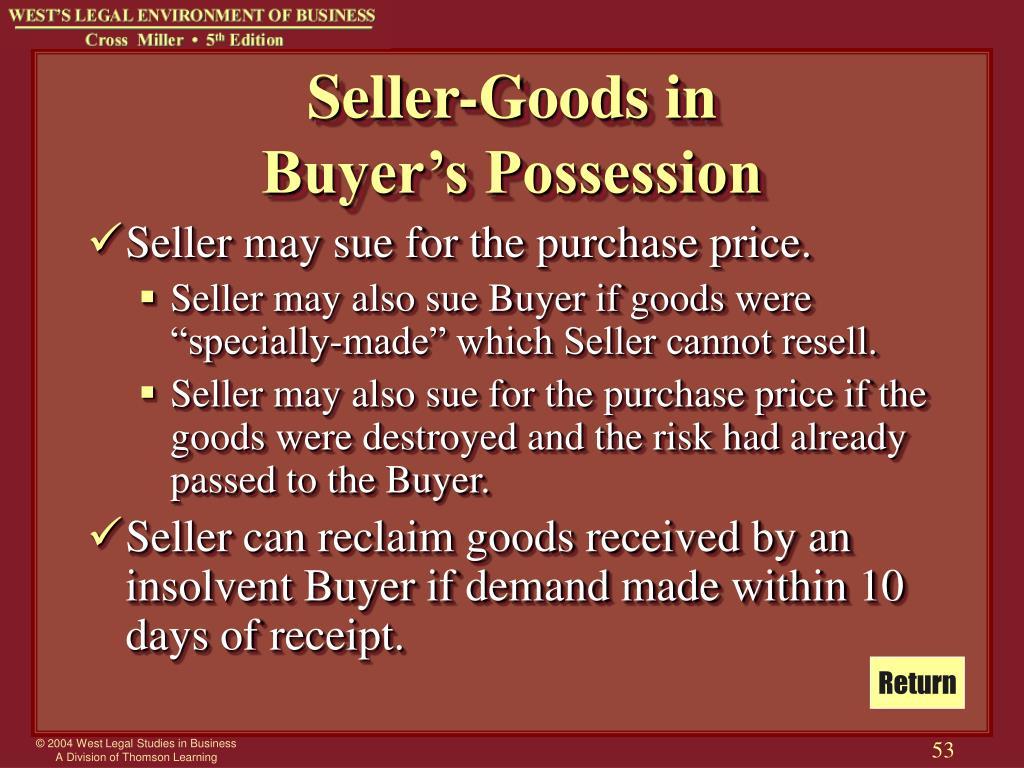 Seller-Goods in