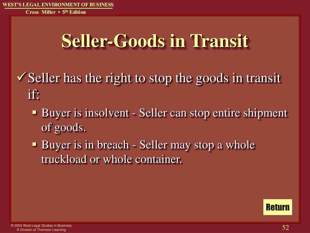 Seller-Goods in Transit