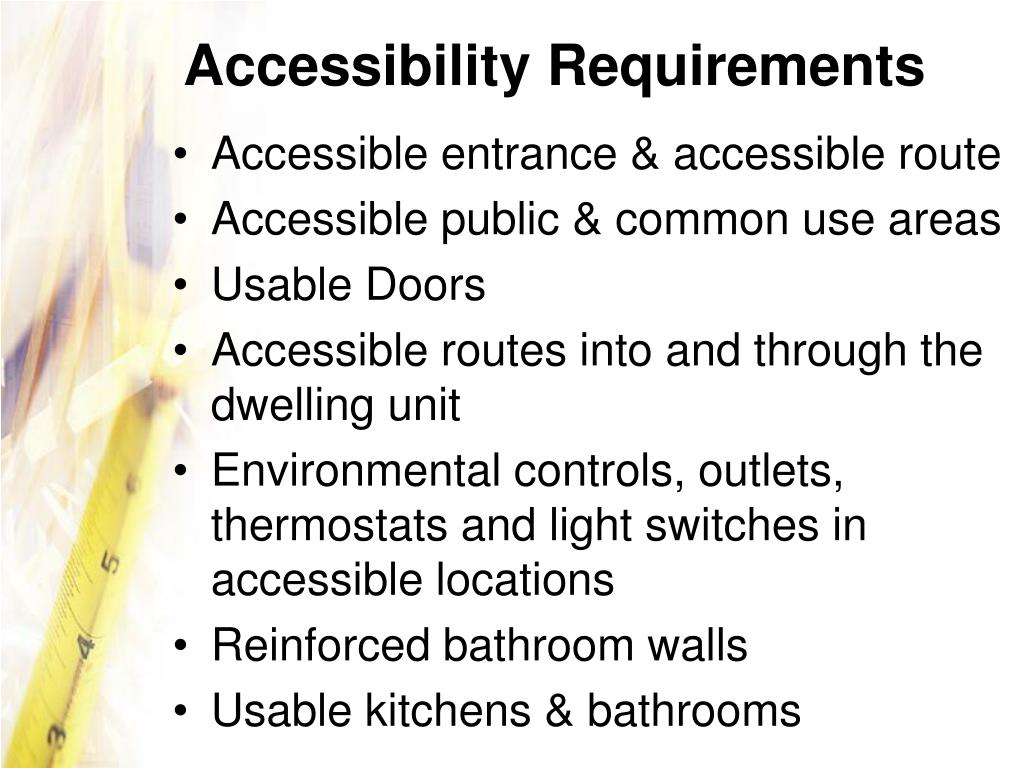 Accessibility Requirements