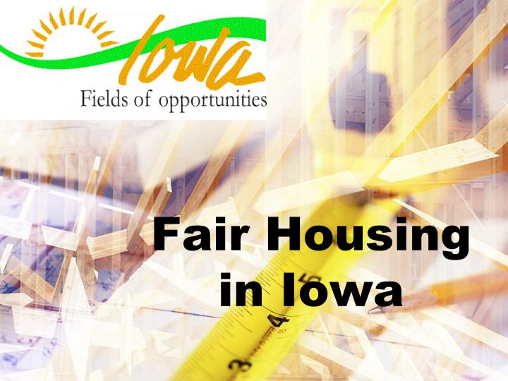 Fair housing in iowa