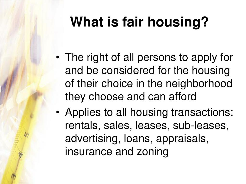 What is fair housing?