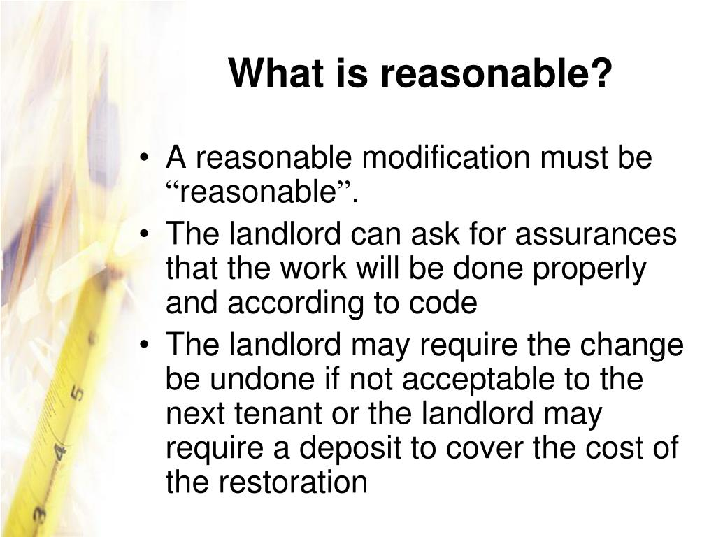 What is reasonable?