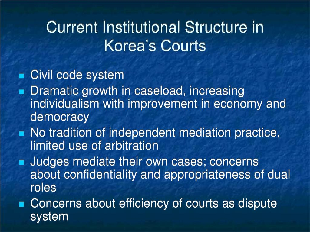 Current Institutional Structure in Korea's Courts