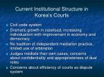current institutional structure in korea s courts