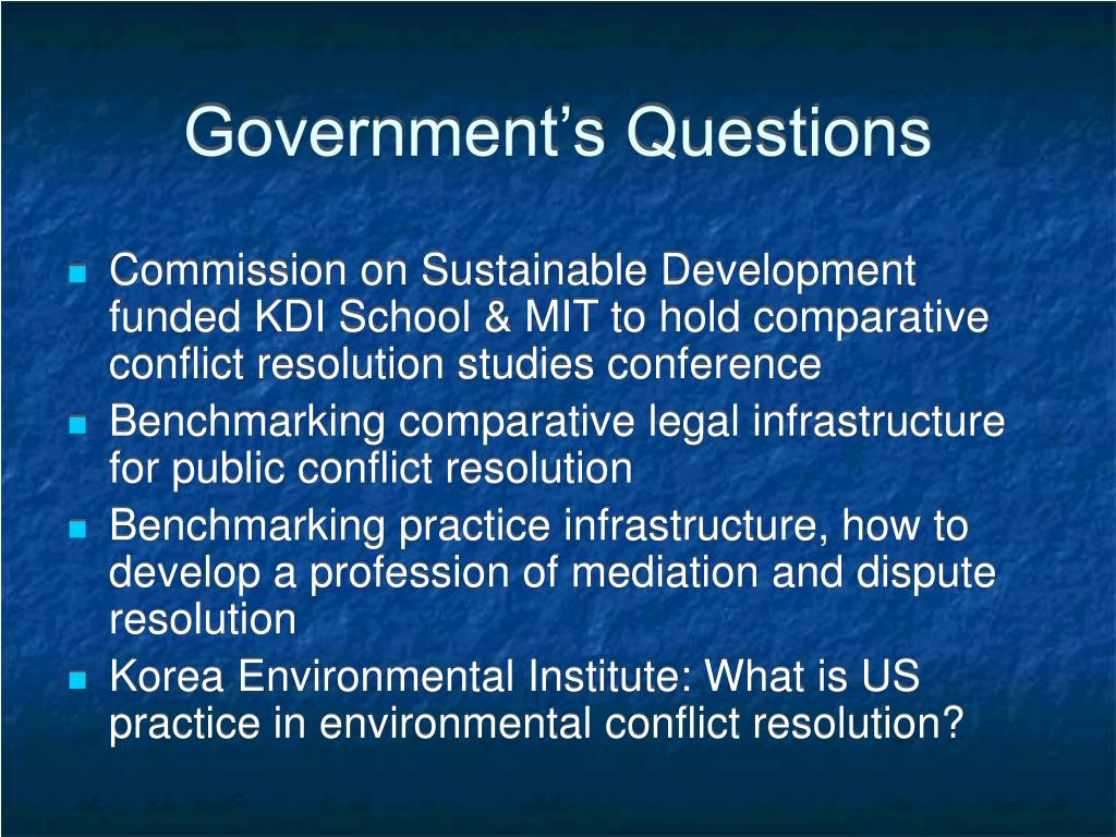 Government's Questions