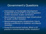 government s questions