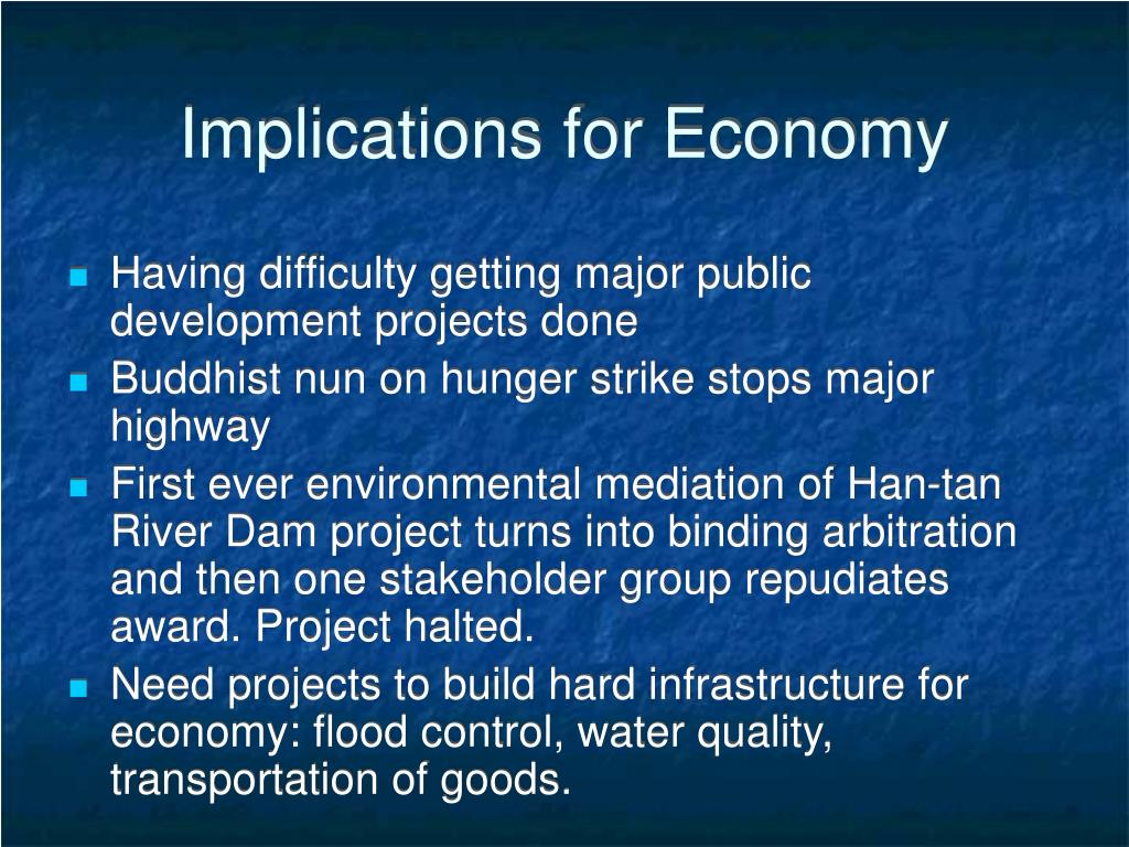 Implications for Economy