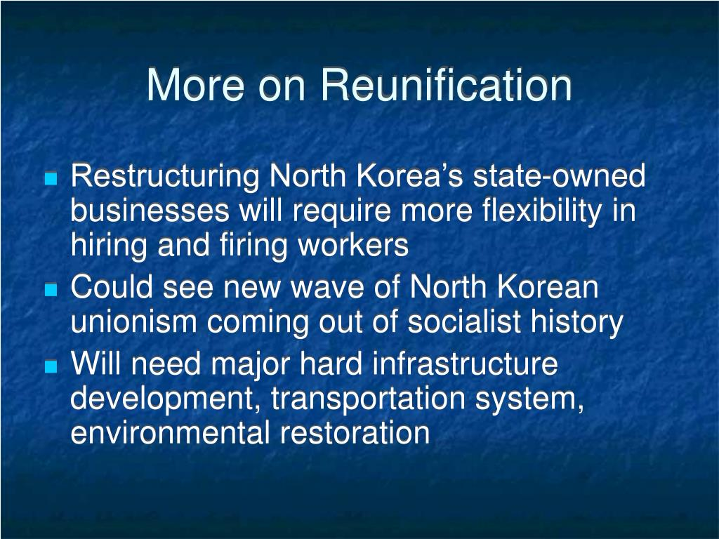 More on Reunification