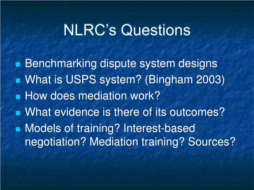 NLRC's Questions