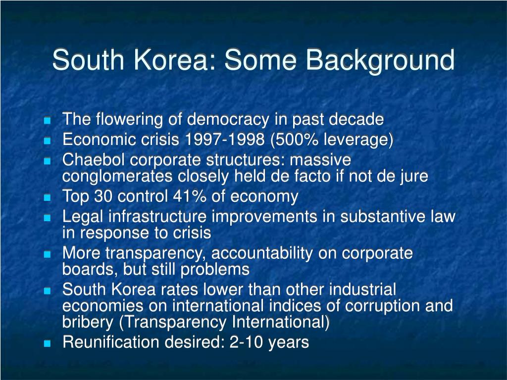 South Korea: Some Background