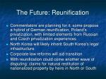 the future reunification