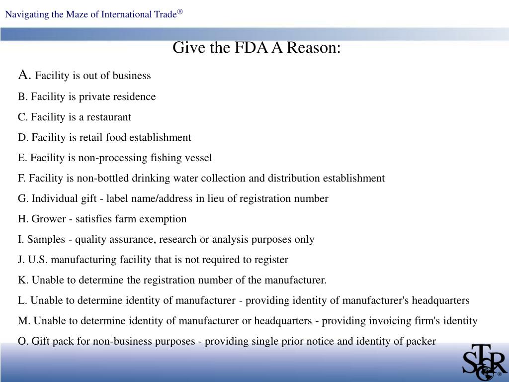Give the FDA A Reason:
