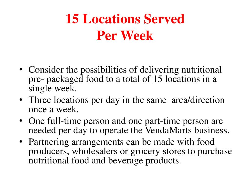 15 Locations Served