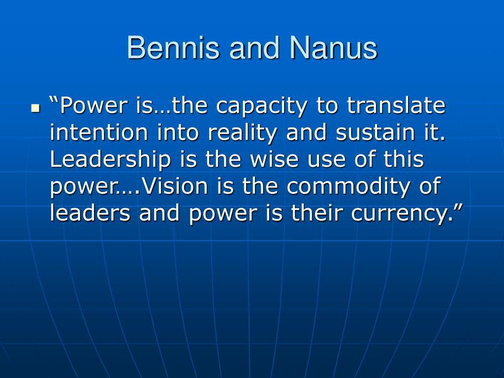 Bennis and Nanus