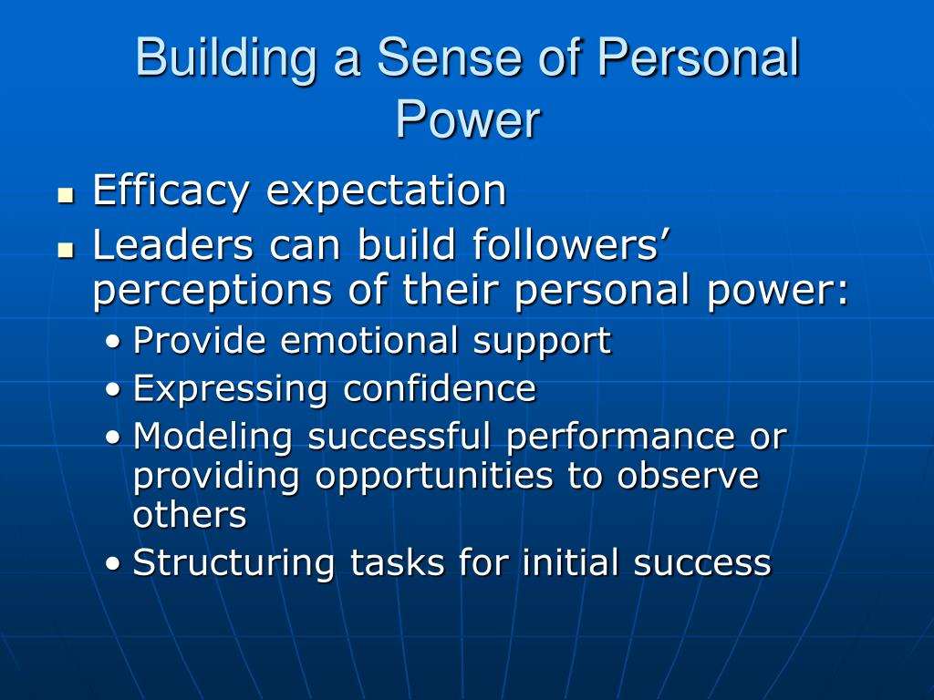 Building a Sense of Personal Power